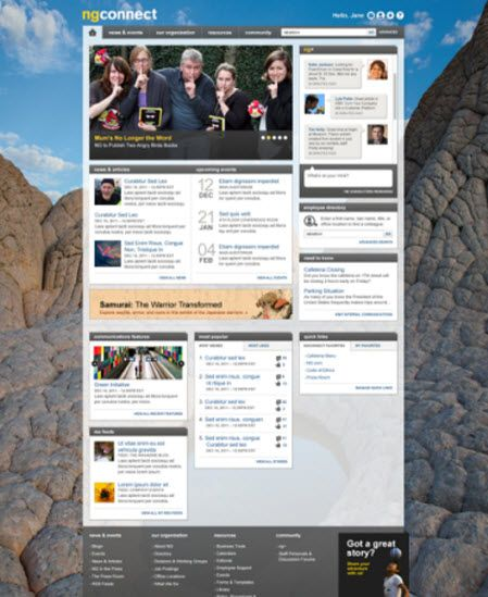 national geographic 39 s ngconnect intranet built on the