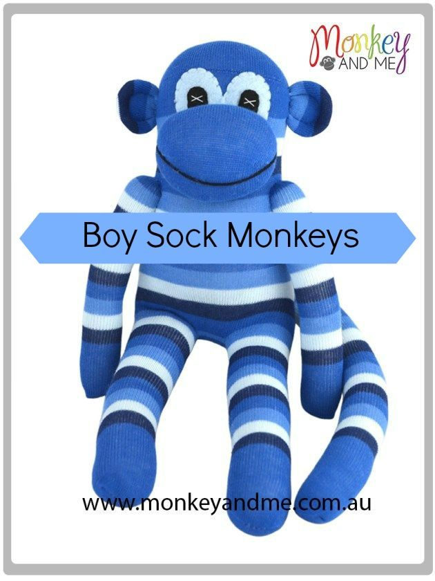 Hugo the Sock Monkey Adopt over at monkeyandme.com.au #sockmonkeys #gifts #toys #sockmonkey