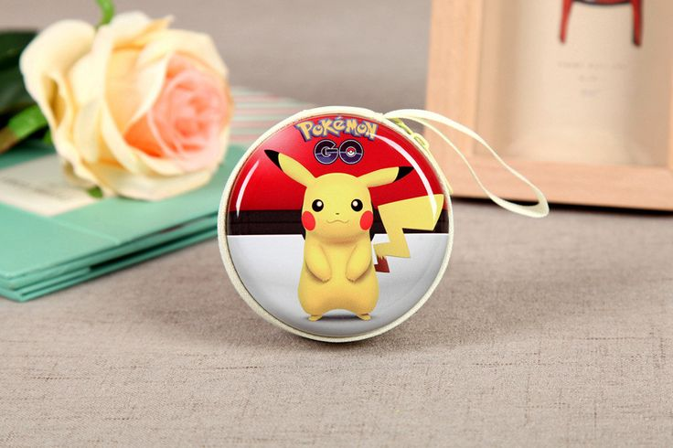 Cute Lovely Pikachu Coin Purse Pokemon Pikachu Wallet Cartoon Creative Zipper Portable Scale Circular Coin Bags CB0045