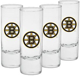 Mustang Boston Bruins 4-Pack Shooter Glasses - Shop.Canada.NHL.com