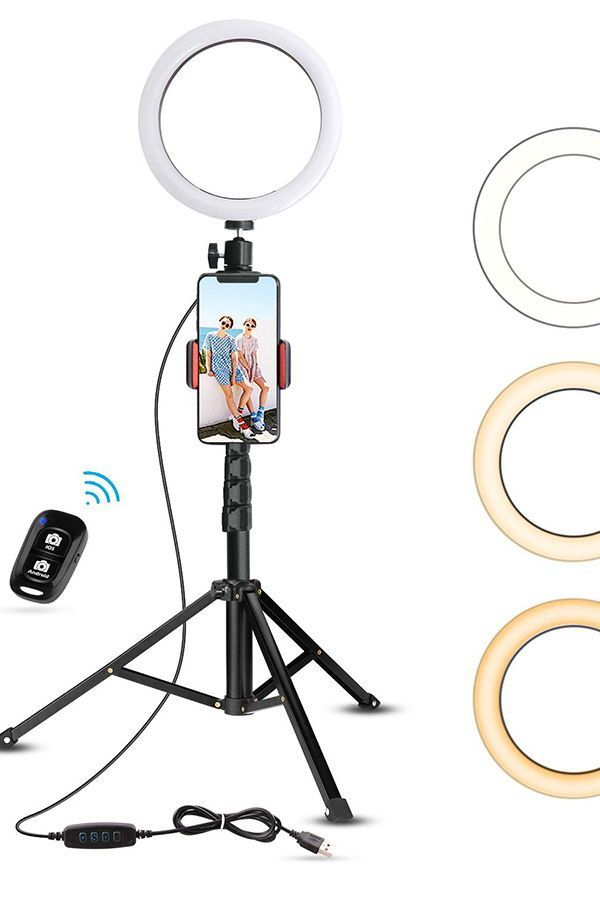 Dimmable Led Ring Light Has 80 Led Lamp Beads For Long Life Without Changing Bulbs 3 Colors Lighting Mo Selfie Ring Light Led Selfie Ring Light Iphone Light
