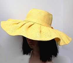 SUMMER HAT WITH PLEATED WIDE BRIM--these wholesale fashion hats have the unique look of pleated brims that create folds that open up as they move towards the outer edge.  A new concept in summer wide brim hats.  http://www.awnol.com/store/Hats/Wholesale-Fashion-Hats