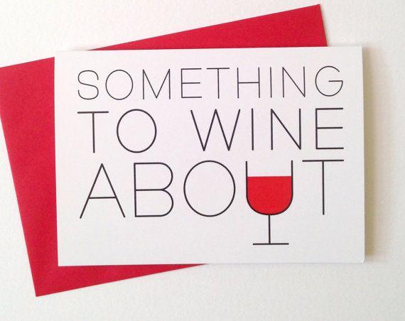 Wine Birthday Card alcohol card birthday party by helloDODOshop