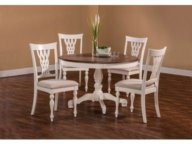 Rich In Traditional Design, The Woven Laced Wood Back And Tall Rectangular  Chair Silhouette Combined With The Graceful Pedestal Table ...