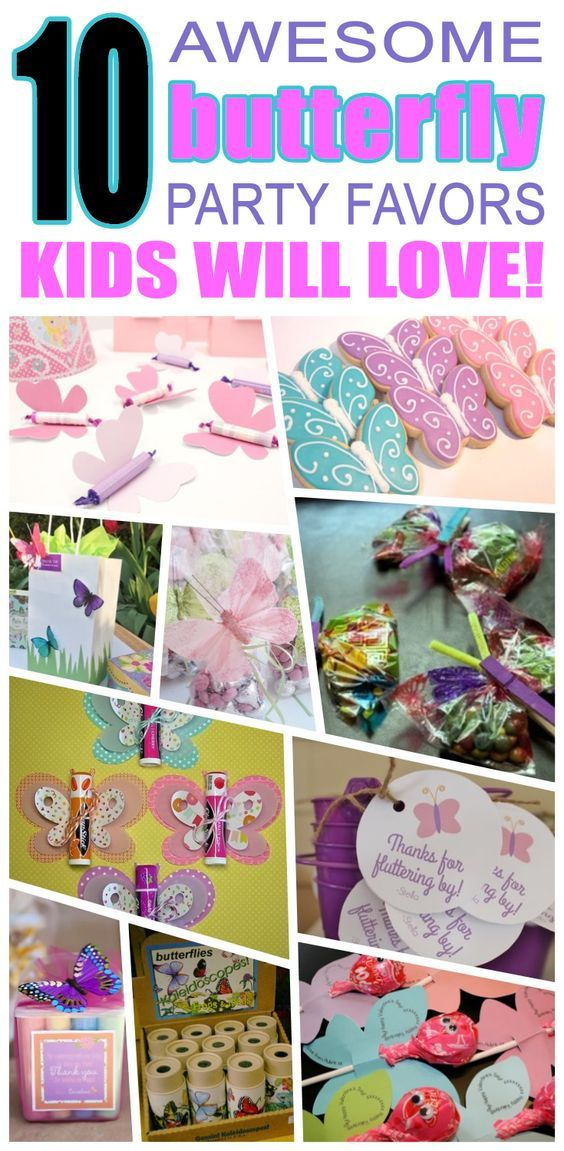 Great butterfly party favors kids will love. Fun and cool butterfly birthday party favor ideas for children. Easy goody bags, treat bags, gifts and more for boys and girls. Get the best butterfly birthday party favors any child would love to take home. Loot bags, loot boxes, goodie bags, candy and more for butterfly party celebrations.