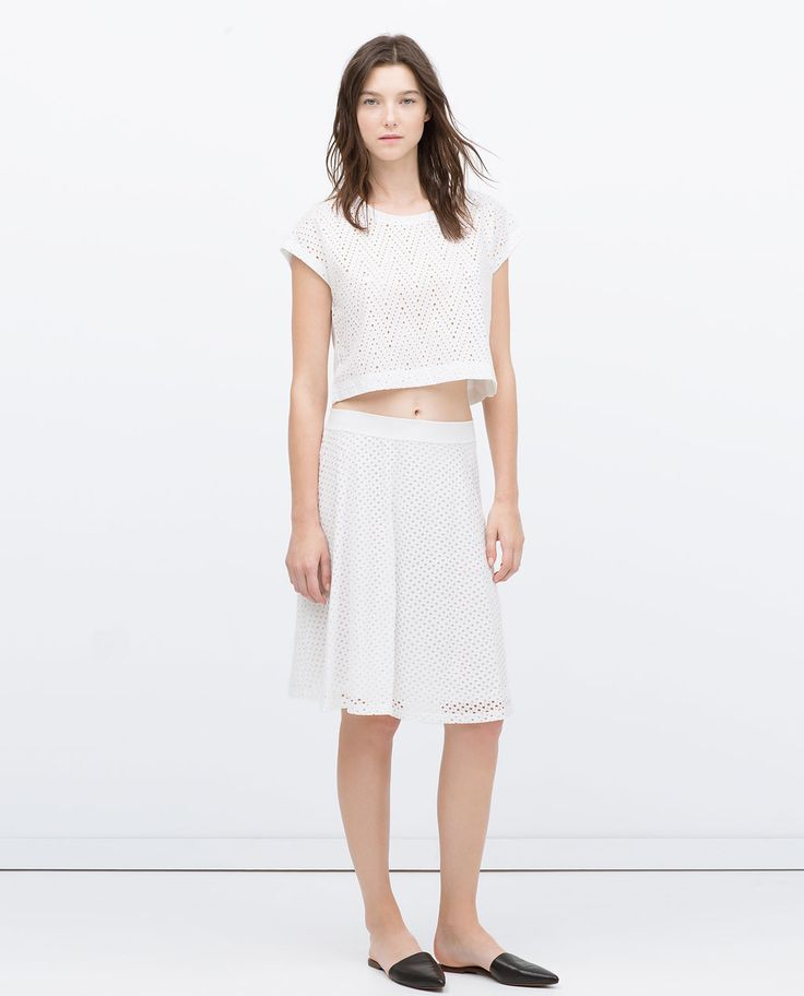 ZARA - NEW THIS WEEK - PERFORATED SKIRT