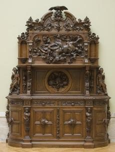 """Sideboard. Bailly. 1855. Cleveland Museum of Art.  """"Death in the Dining Room"""""""