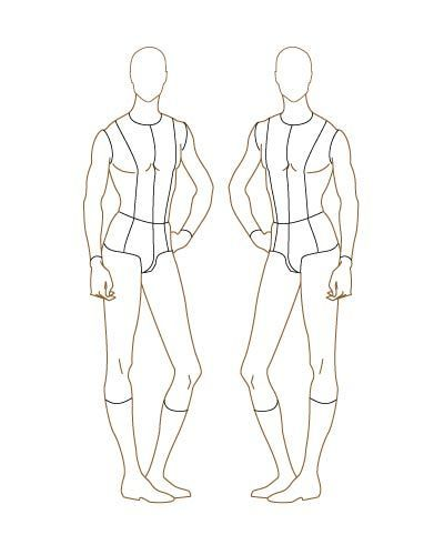 photograph about Printable Fashion Croquis titled printable type structure templates for adult men Gentleman Model