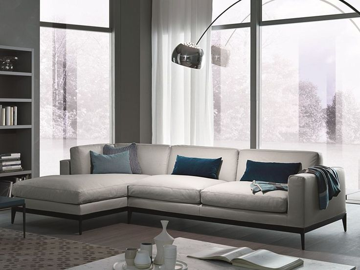 Corner Sectional Modular Leather Sofa ANTIBES MisuraEmme Collection By  MisuraEmme | Design Ferruccio Laviani