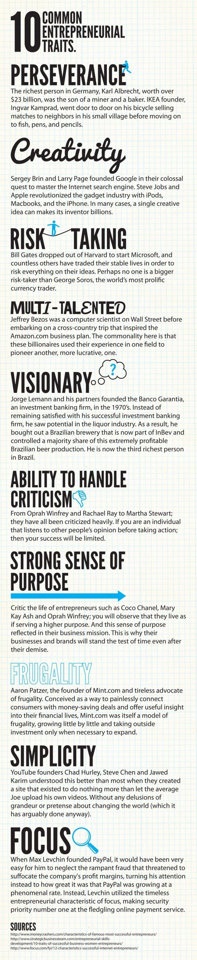 10 Common Entrepreneurial Traits  #entrepreneur #management Thanks for the follow :)  www.utilitywarehouse.org.uk/F82687/opportunity