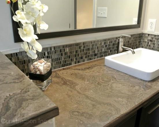 Bathroom Backsplash 14 best bathroom backsplashes images on pinterest | bathroom ideas
