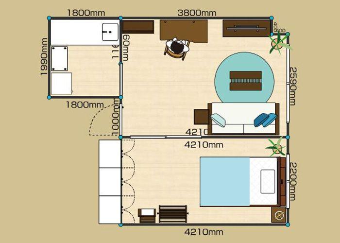 リビングダイニングルーム 1ldk 10畳 2d レイアウト 1ldk レイアウト インテリアコーディネート 実例