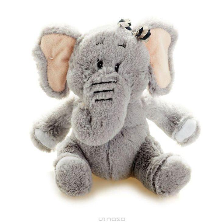 Мягкая игрушка Maxi Toys Слон Бэби, цвет: серый, 15 см
