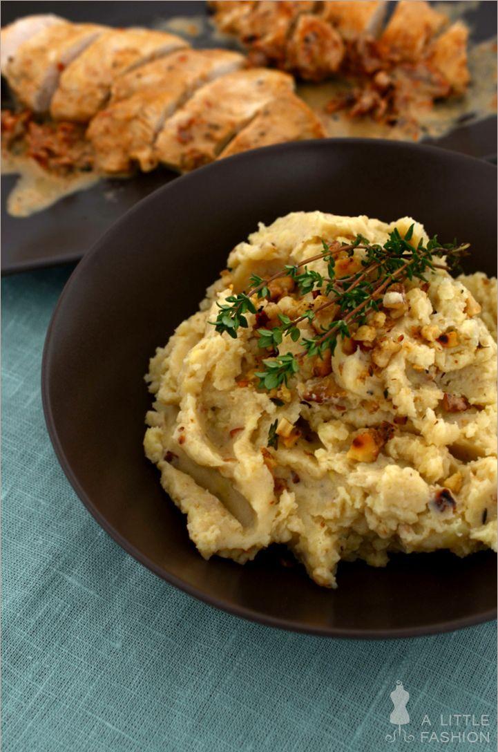 Walnuss-Kartoffel-Püree. Vllt mit Butternut oder Petersilienwurzeln oder Sellerie