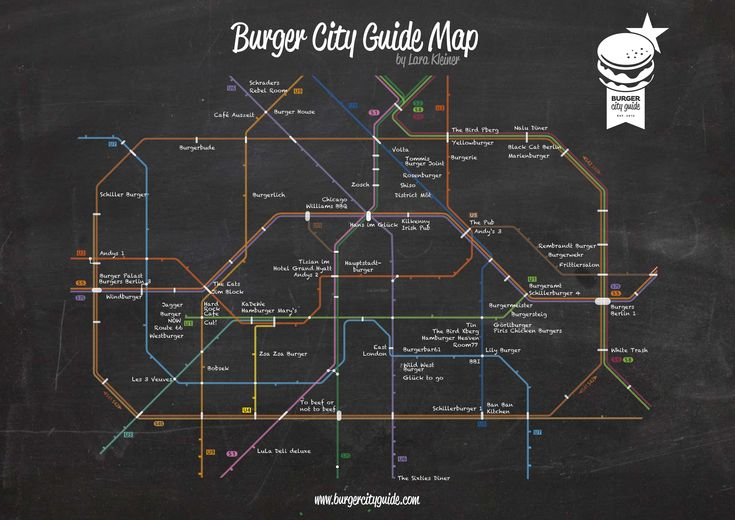 Burger City Guide - Burger U-Bahn Netz Berlin