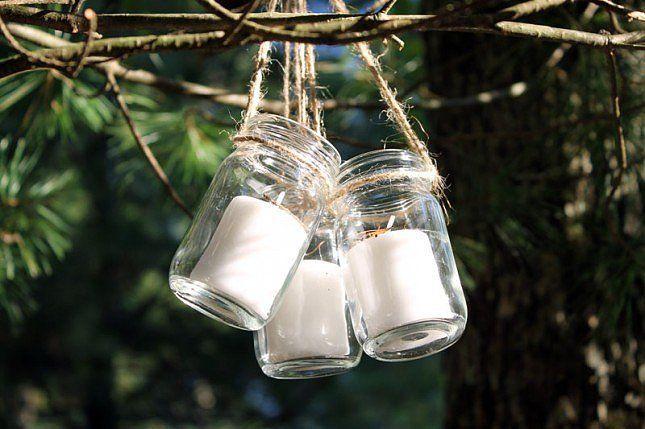 DIY Hanging Mason Jar Lanterns