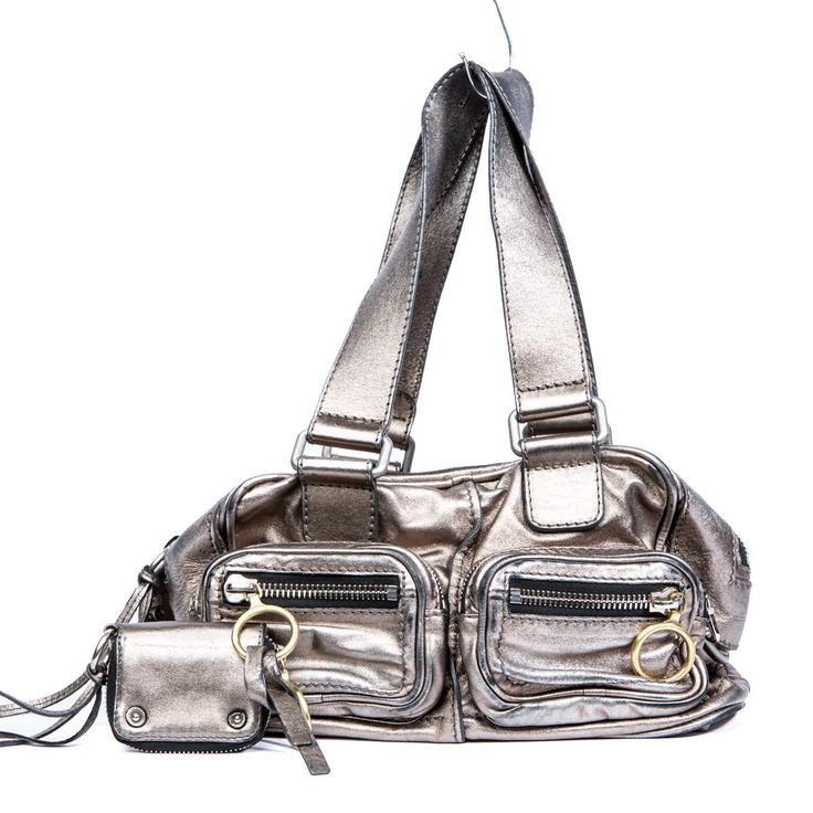Metallic Silver Leather Chlo�� Betty Bag for Women