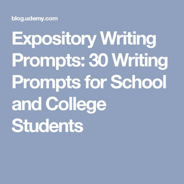 College expository essay writing prompts