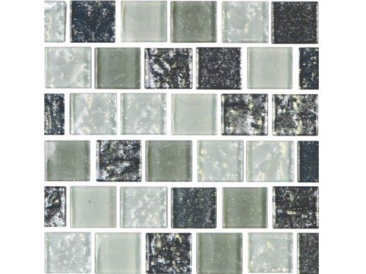 National Pool Tile Soleil 1x1 Glass Series Pool Tile | Silver | ISIS1X1