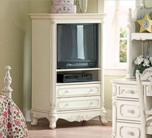 Cinderella Traditional White Wood Armoire