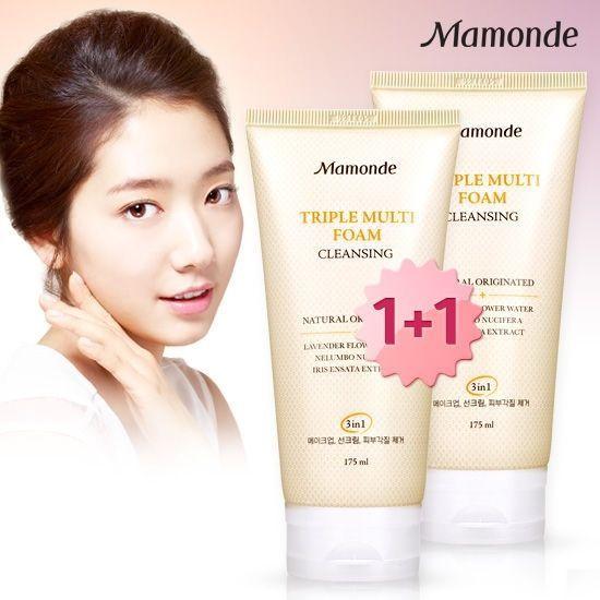 Mamonde Triple Multi Foam Skin Cleansing Foam Face Cleanser 175ml  Unisex  #Mamonde
