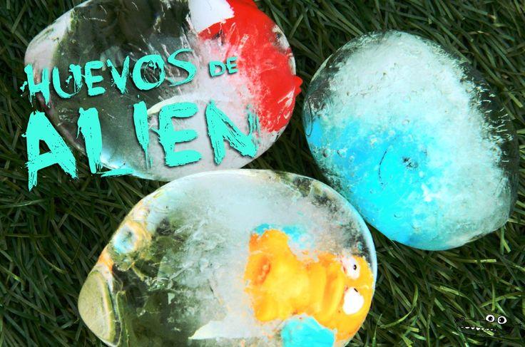 Huevos sorpresa congelados!  un #Experimentodivertido para niños de #Preescolar