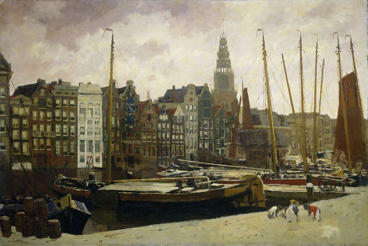 George Hendrik Breitner - The Damrak, Amsterdam, c. (1903)
