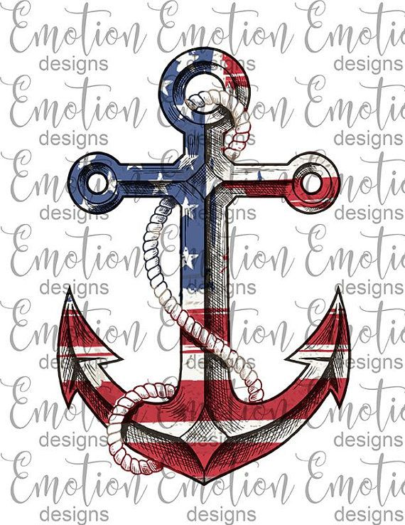 American Flag Anchor Clipart Instant Download Sublimation Etsy American Flag Tattoo Anchor Drawings Us Navy Tattoos