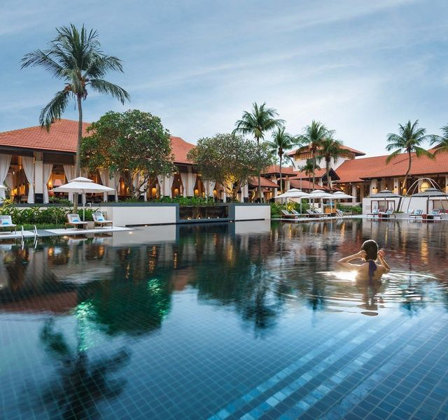 Singapore recommendation. Sofitel Singapore Sentosa Resort & Spa - a beautiful setting, wonderful pool, spacious villas.