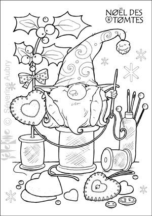 Pin by kim 60 on coloring pinterest gnomes adult for Tomte coloring page