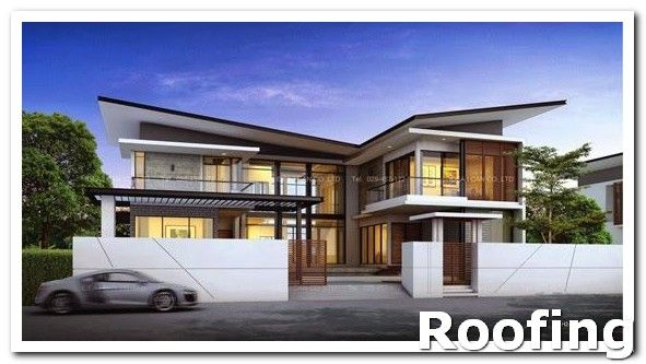 Roofing Design When Looking Around For Roof Insurance There Are Some Questions You Need T Contemporary House Design Modern Tropical House Butterfly Roof