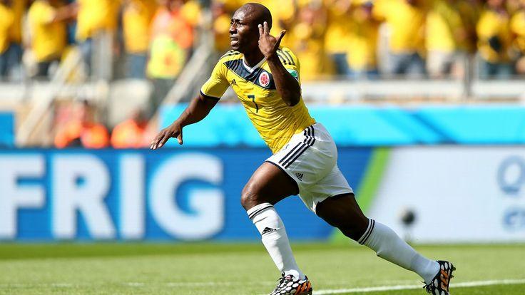 Pablo Armero (Col) - 1st Goal - Colombia vs Greece 3-0 - Group C - 14 June 2014