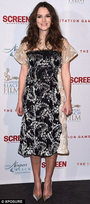 Keira Knightley in Michael van der Ham custom-made dress - Newport Beach Film Festival pre-BAFTA private reception in London.  (February 5, 2015)
