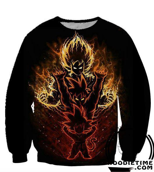 Dragon Ball Z - Kid Gokus Evolution Hoodie - Pullover 3D hoodie