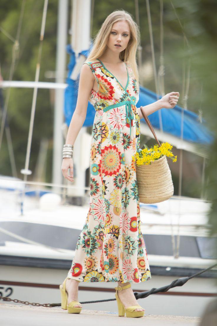 Vestido Parrita #vestidoestampado #vestidolargo #vestidogasa #longdress #dress