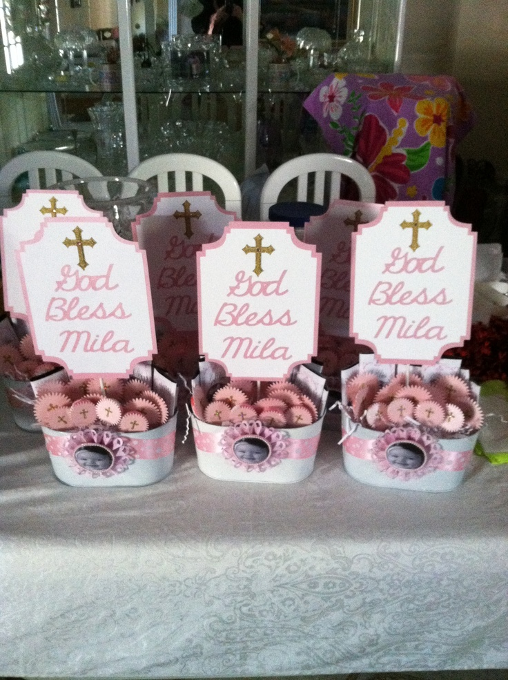 Centerpieces for christening