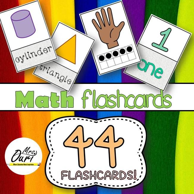 Math Flash cards (numbers, shapes and ten frames) from Mrs. Ouri