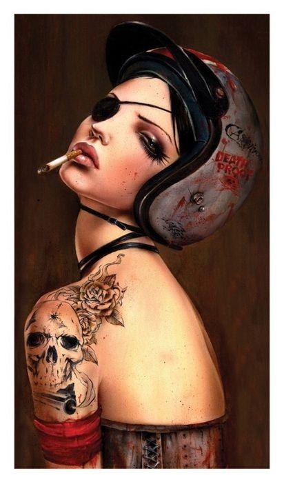 brian m. viveros, brian viveros, girl, painting, smokeme, smoking