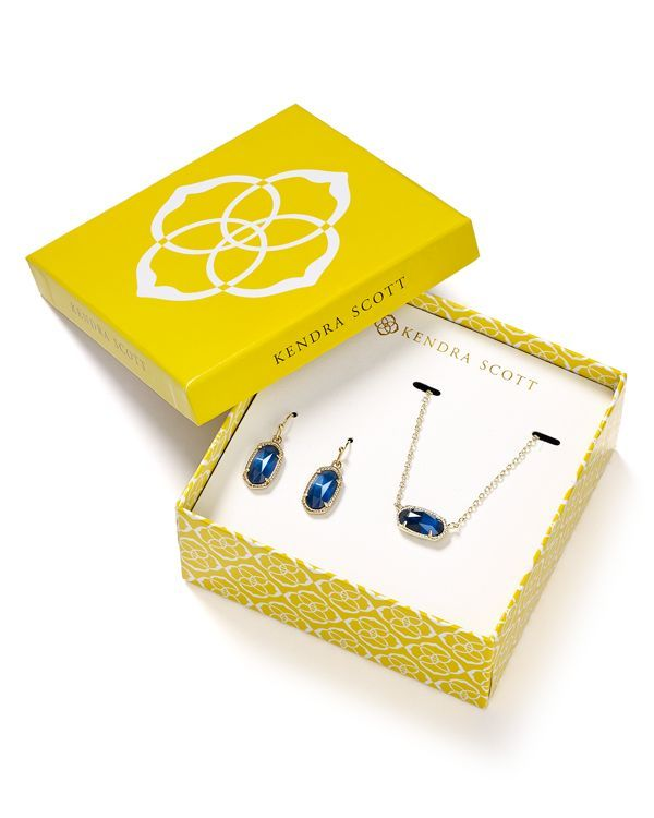 Kendra Scott Lee Earrings & Elsa Necklace Gift Set