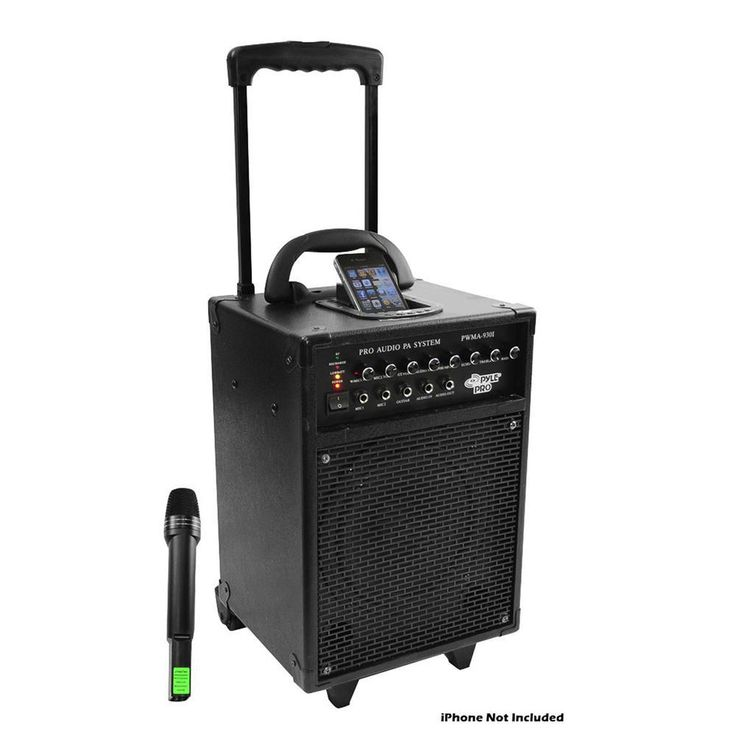 600 Watt VHF Wireless Portable PA System-Echo w-iPod Dock