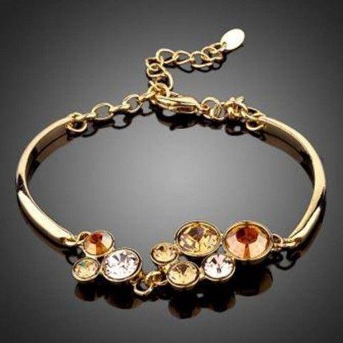 Crystal & Gold Bracelet 'Fall'  Click to buy >>>  www.lillyjack.com.au