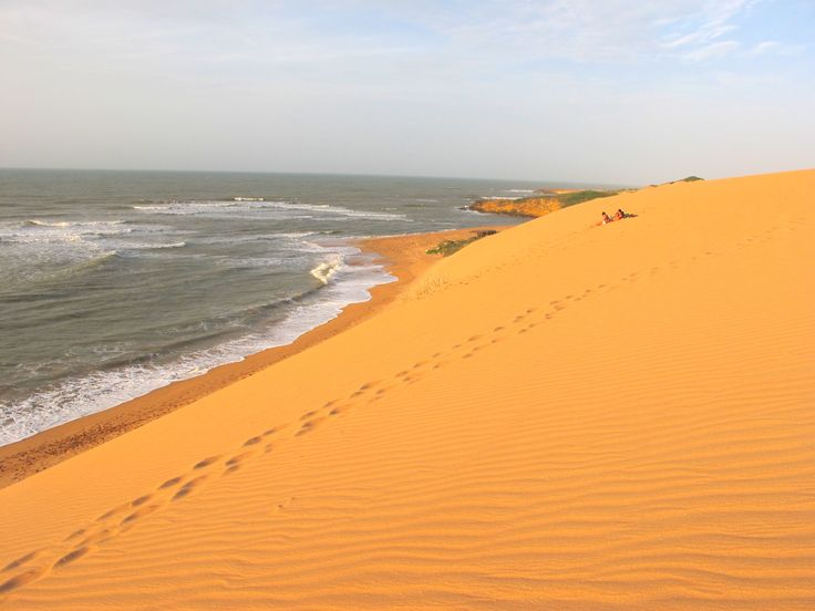 Sand dunes in Colombia.