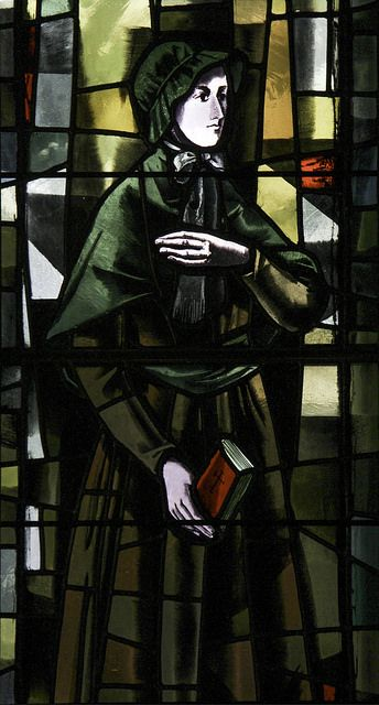 St Elizabeth Ann Seton Today, 4th January, is the feast of St Elizabeth Ann Seton, the first person born in America to be canonized as a saint in 1975. This stained glass window is in the Cathedral of Mary Our Queen in Baltimore.   by Lawrence OP