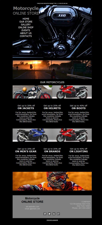 Los centímetros cúbicos que hay en tu concesionario de motos no son equiparables a los diseños tan exclusivos que tenemos en plantillas newsletter para tu negocio. Prueba Mailify, es gratis.