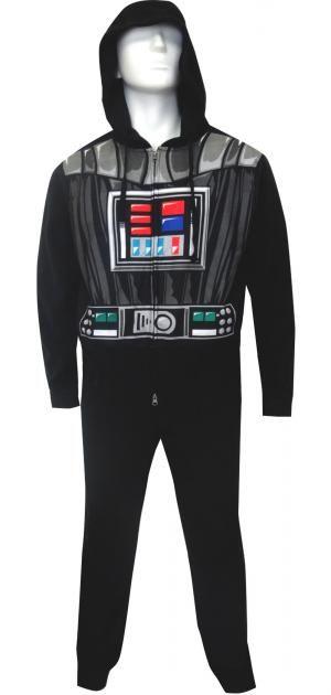 Star Wars Look Like Darth Vader Hooded Fleece Union Suit Pajama