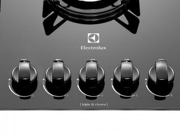 Cooktop 5 Bocas Electrolux a Gás - GC75V Tripla Chama e Botões Removíveis
