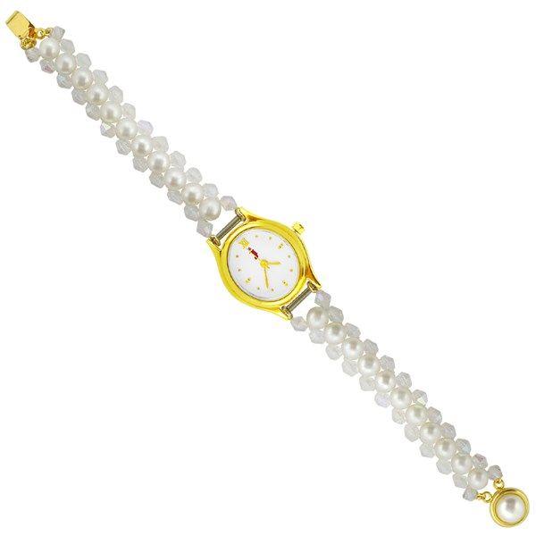 Jpearls Snowy White Pearl Watch