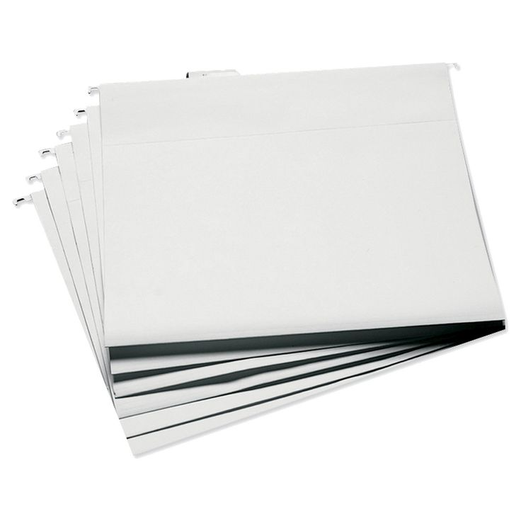 These sturdy hanging file folders are the perfect size for organizing your scrapbooking supplies. They measure 14-3/4 inches wide and 13-1/4 inch deep-- great for 12x12 inch paper, album pages, layouts, scraps, stickers, die-cuts and more. Each package contains six white file folders, six clear file tabs, and six tab insert labels. Acid free.