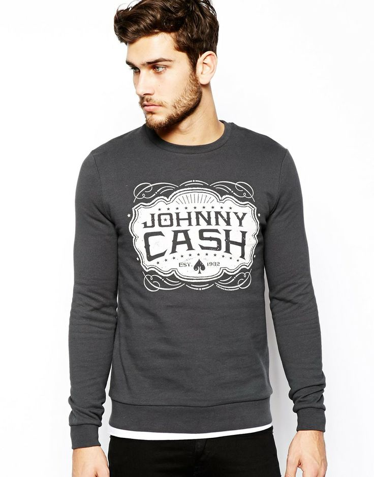 ASOS Sweatshirt With Johnny Cash Print