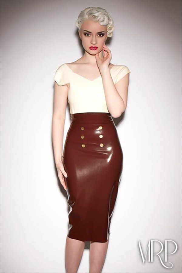 Latex High Waisted Skirt by Catalyst Latex